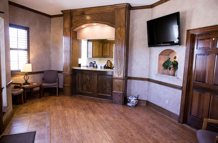 North Tarrant Oral & Maxillofacial Surgery Patient check-in and reception area