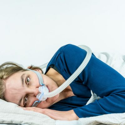 Woman unable to sleep because of uncomfortable CPAP mask